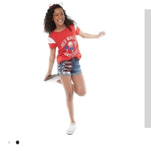 NEW AMERICAN FLAG GIRLS SIZE 16 ICE CREAM TEE